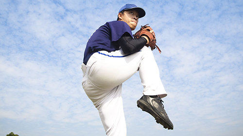 14349785 - baseball pitcher ready for throwing the ball